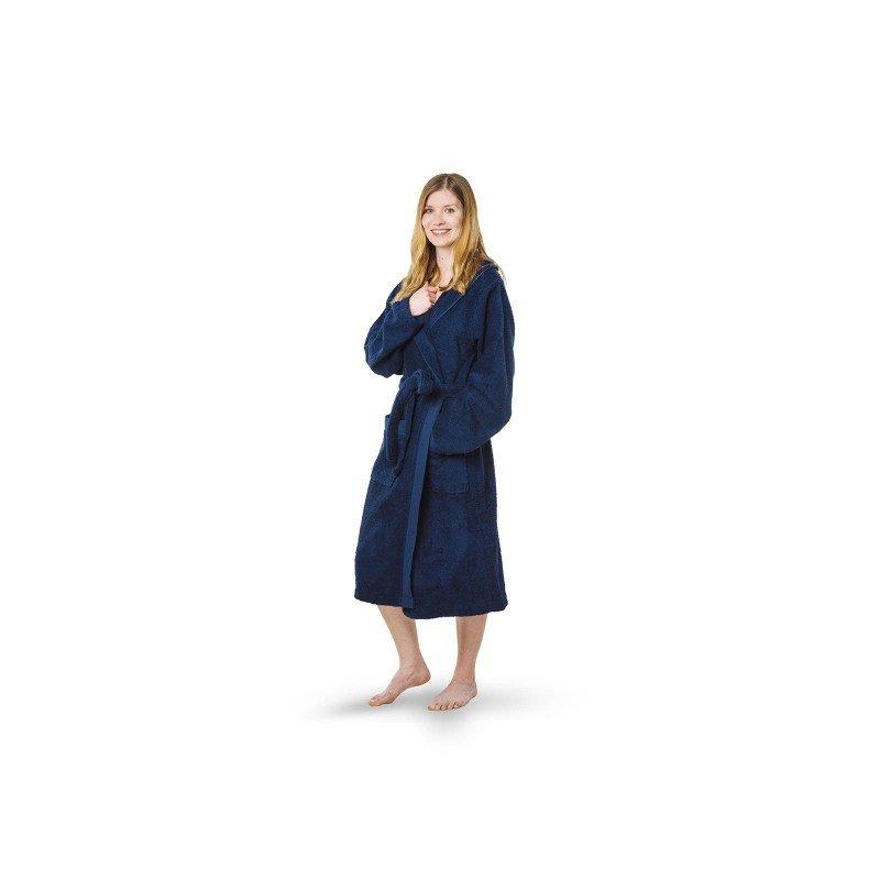 Kupaoni ogrtač za muškarce i žene  Prima od pamučnog frotira je veoma mekan i izdržljiv. Veoma je prijatan na dodir i rado ćete ga nositi. Prednost kupaonog ogrtača je gusto tkanje koje osigurava odlično upijanje što ne daje osjećaj težine jer se brzo suši. Kupaoni ogrtač ima bočne džepove za dodatnu udobnost. Sa dekorativnom bordurom na rubovima. Odličan izbor za saunu, wellness, fitnes ili za poslije tuširanja. Kupaoni ogrtač je periv na 40 °C.