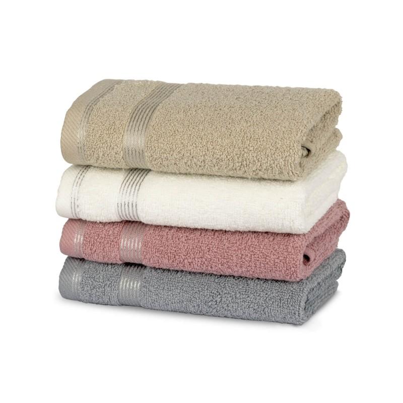 Osjetite raskošnu udobnost u kupaonici! Kvalitetni peškiri Aurum od pamučnog frotira su izdržljivi, mekani, upijajući i brzo se suše. Klasični jednobojni peškiri s dekorativnom bordurom. Dostupni u tri dimenzije. Peškiri su perivi na 60 °C.