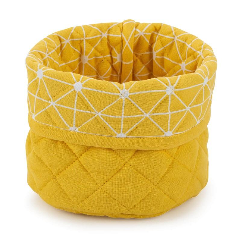 Okrugla korpa izrađena je od pamučne tkanine i visokokvalitetnih mikrovlakana. Namijenjena je za spremanje raznih proizvoda, kao i za posluživanje hljeba i drugih pekarskih proizvoda. Moderan dizajn za lijepo uređenu kuhinju. Košara se može prati na 40° C.