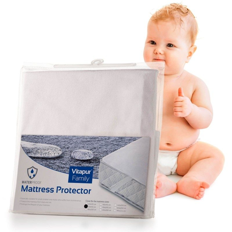 Nepromočiva zaštita za madrac  Baby Protect pruža efikasnu zaštitu dječijeg madraca od mrlja i vlage. Tako će dječiji madrac učinkovito biti učinkovito zaštićen i produžen mu vijek trajanja.  Iako je zaštita vodonepropusna ipak propušta vodenu paru i zrak. Tkanina je prozračna, tako da se vlaga neće nakupljati u vašem krevetu. Zaštita pruža svježu površinu za spavanje i osigurava suho okruženje. Zaštita ima trajne elastične trake na ivicama što namiještanje čini brzim i jednostavnim. Zaštita se u potpunosti može prati na 60 ° C.
