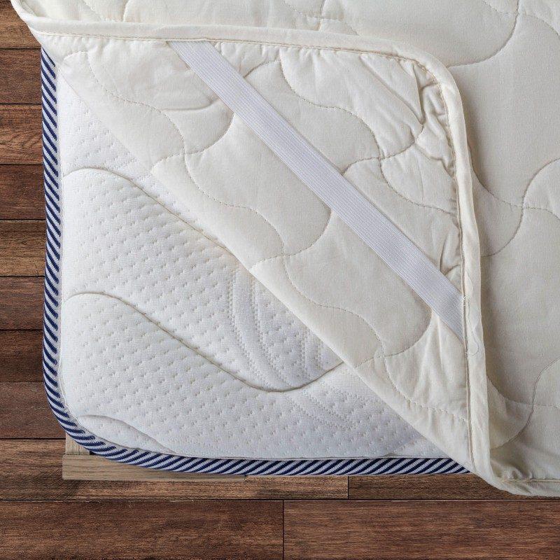 Zaštita za madrac Andora pruža efikasnu zaštitu madraca od mrlja i prljavštine. Vaš će postojeći madrac sa zaštitom će ponovo postati čist,  a sasvim novim madracima će dati dodatnu udobnost i produžiti vijek trajanja. Zdravo i suho okruženje za spavanje omogućava 100% nebijeljeni pamuk i punjenje od bambusovih vlakana koja efikasno apsorbiraju i uklanjaju vlagu. Zaštita  ima trajne elastične trake na ivicama što namiještanje čini brzim i jednostavnim. Zaštita se u potpunosti može prati na 60°C.