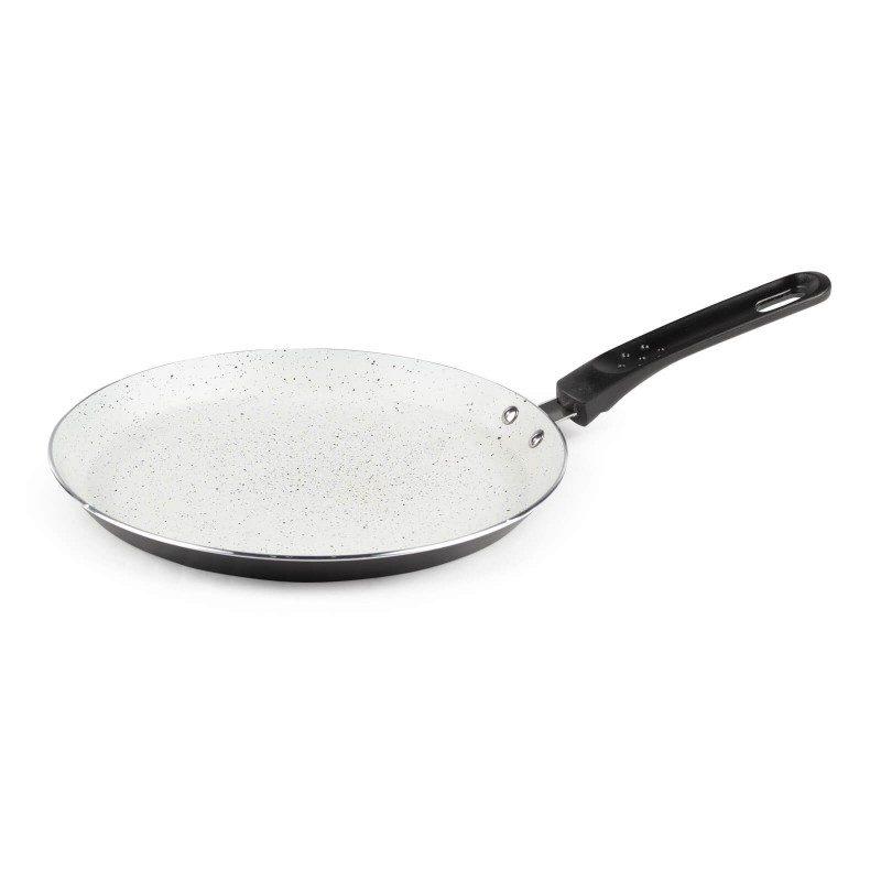 Tava za palačinke Eco Cook prečnika 25 cm sa neljepljivim glatkim mineralnim premazom mogućava prirodan način kuhanja sa vrlo malo masnoće. Hrana na taj način zadržava  sve vitamine i minerale koji su našem tijelu potrebni za zdrav način života. Pogodan za sve površine za kuhanje, uključujući indukcionu. Lako se čisti i može se prati i u mašini za pranje posuđe. Sve posude iz linije Eco Cook temelje se na višeslojnom sastavu, čime je zagarantovan dug vijek trajanja i visok stepen otpornosti i izdržljivosti posude.
