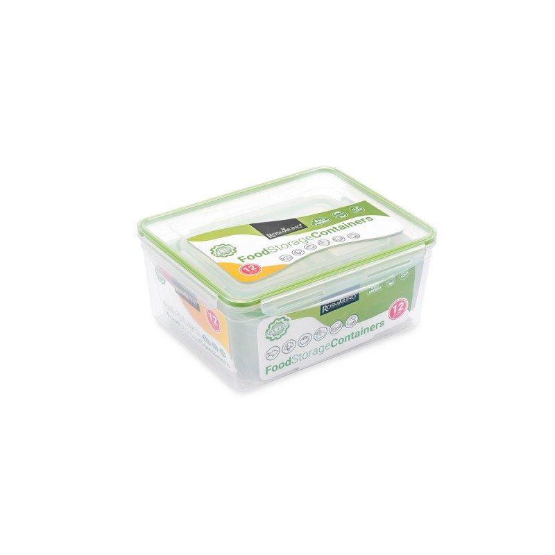 U plastičnim posudicama Rosmarino ćete na jednostavan način očuvati različite namirnice. Set se sastoji od 6 posuda različitih veličina i 6 pripadajućih poklopaca.