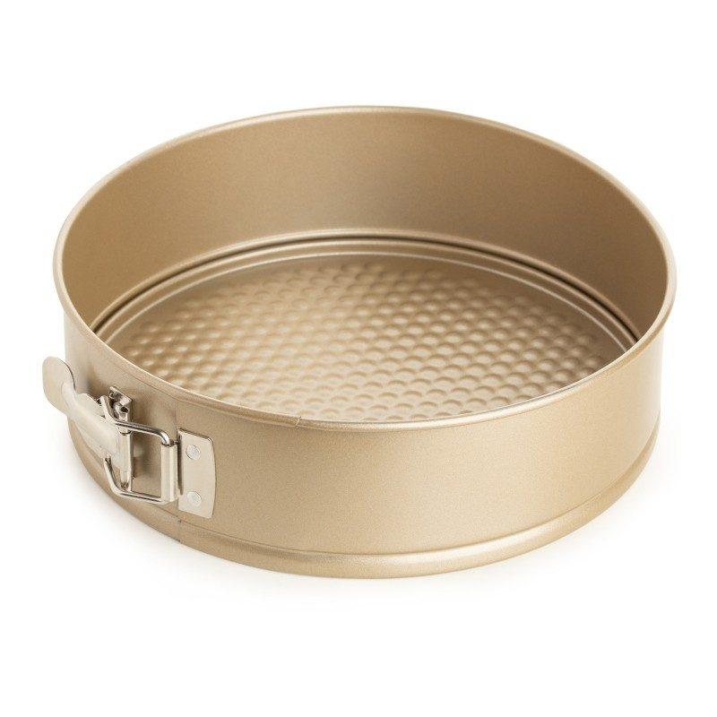 Pekač kalup Rosmarino Baker Gold svojim posebnim dizajnom namijenjen je za pečenje torti, pita, kolača i drugih poslastica. Efektom vrućeg kamena omogućava pripremu hrane na prirodan način. Dimenzije: 24x7 cm.