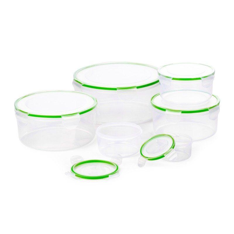 U plastičnim posudicama Rosmarino ćete na jednostavan način očuvati različite namirnice. Set se sastoji od 6 okruglih posuda različitih veličina i 6 pripadajućih poklopaca.
