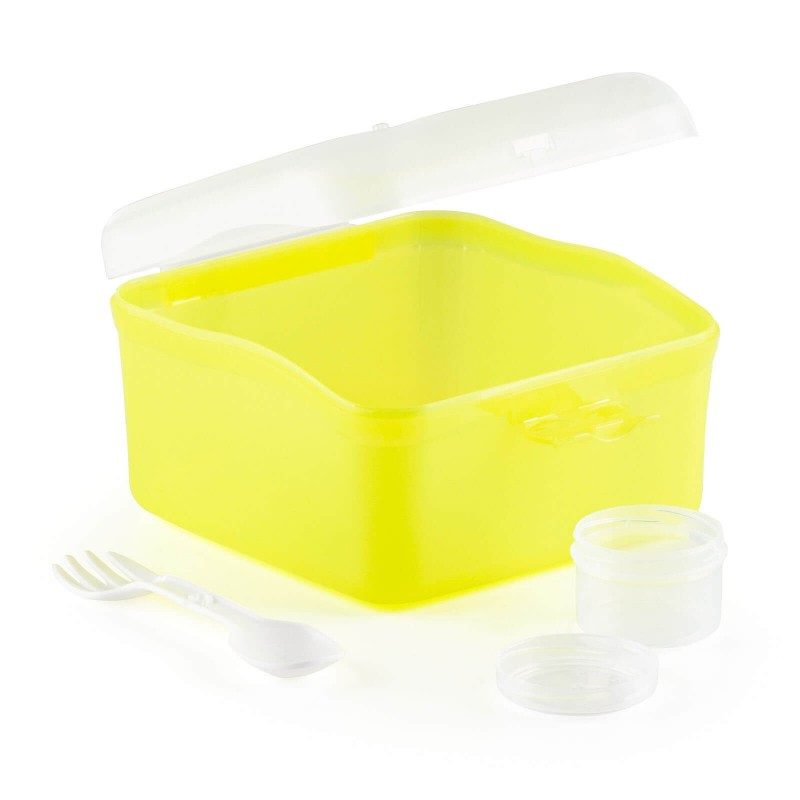 Prenosna Rosmarino posuda će osigurati da uvijek imate brz i zdrav obrok sa sobom. Pogodna je i za skladištenje hrane u frižideru ili zamrzivaču, jer je otporna na temperature do -20 °C, zbog izdržljivog materijala koji ne sadrži štetne materije. Možete koristiti i u mikrovalnoj pećnicu (do 120 °C). U unutrašnjosti je mala posuda sa dodatnim poklopcem, u koju možete nositi začine, ulje ili sirće, što omogućava pripremu salate u pokretu. Zatvara se na clip, omogućavajući bezbjedan transport.