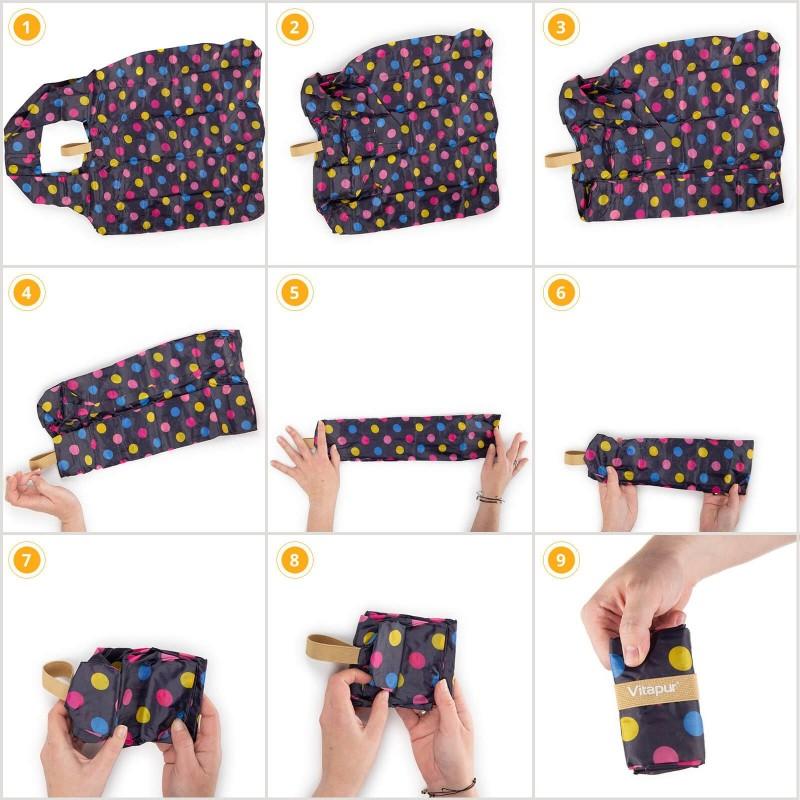 Mala, ali istovremeno velika torba za svaku priliku! Ceker je ekološki jer je namijenjen višekratnoj upotrebi - jedna vrećica zamjenjuje čak 1000 plastičnih vrećica! Izrađen je od vodootpornog i izdržljivog materijala. Budući da ima praktičan kaiš, može se u trenu složiti od velikog do malog, čime zauzima vrlo malo prostora u vašoj torbi ili ruksaku. Modernim dizajnom, različitim uzorcima i bojama, ceker je takođe odličan modni dodatak. Dvije ručke olakšavaju nošenje na ramenima. Možete ga koristiti za veće kupovine, jer je njegova zapremina čak 22 litra. Ceker je jednostavan za održavanje i može se prati na 30 °C.