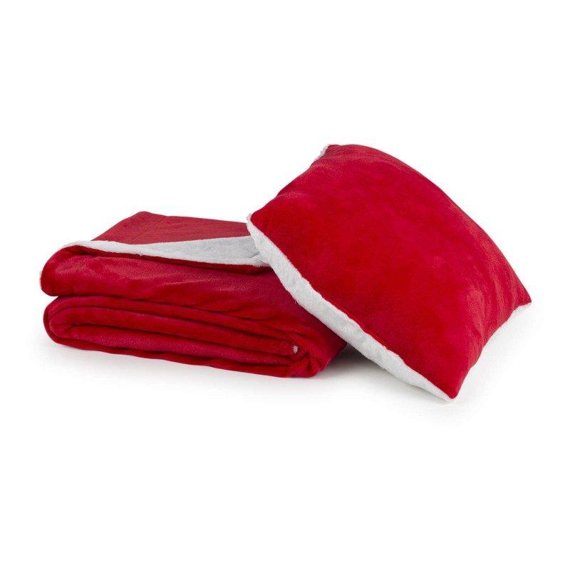 Mekani i topli set dekorativnog prekrivača i jastuka Beatrice Solid od kvalitetnih mikrovlakana za prijatne trenutke udobnosti i opuštanja na svakom koraku: u spavaćoj ili dnevnoj sobi, na putovanju ili na pikniku. Prekrivač i jastuk možete upotrebljavati na obje strane. Na jednoj strani je izuzetno mekana tkanina u bijeloj boji, a na drugoj predivna boja. Set dekorativnog prekrivača i jastuka može poslužiti i kao odličan poklon koji će razveseliti bilo koga vama dragog. Cijeli set je periv na 30 °C.