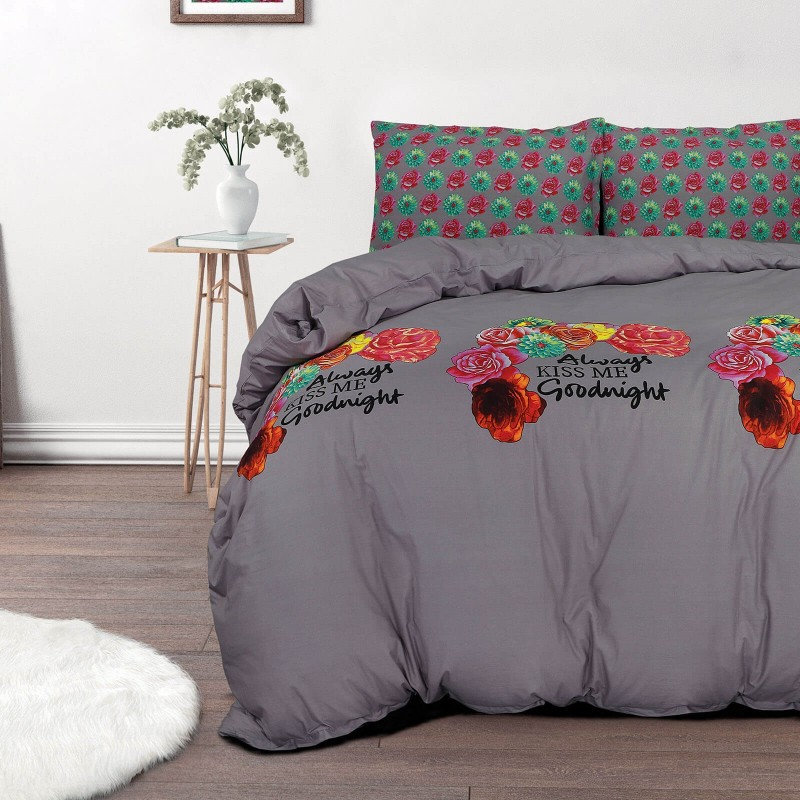 Vrijeme je za potpuno uživanje u modernim pamučnim posteljinama! Posteljina Kiss Me od renforce platna, mekane tkanine, jednostavne za održavanje. Posteljina je savršeni ukras vaše spavaće sobe, a u isto vrijeme odličan izbor za udoban i ugodan san. Posteljina je periva na 40 °C.