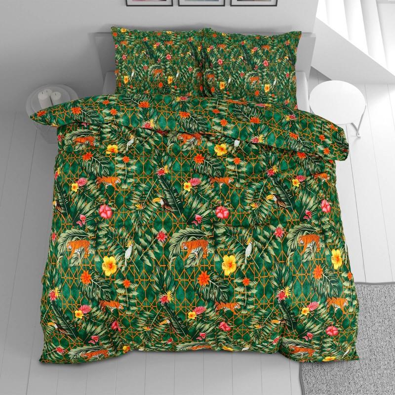 Vrijeme je za potpuno uživanje u modernim pamučnim posteljinama! Posteljina Kala od renforce platna, mekane tkanine, jednostavne za održavanje. Neka vas oduševi moderan dizajn s uzorkom prirode za udoban i ugodan san. Posteljina je periva na 40 °C.