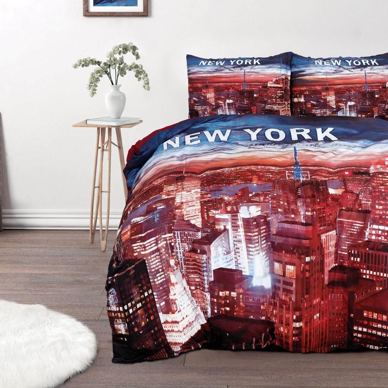 Vrijeme je za potpuno uživanje u modernim pamučnim posteljinama! Posteljina New York od renforce platna, mekane tkanine, jednostavne za održavanje. Posteljina je savršeni ukras vaše spavaće sobe, a u isto vrijeme odličan izbor za udoban i ugodan san. Posteljina je periva na 40 °C.
