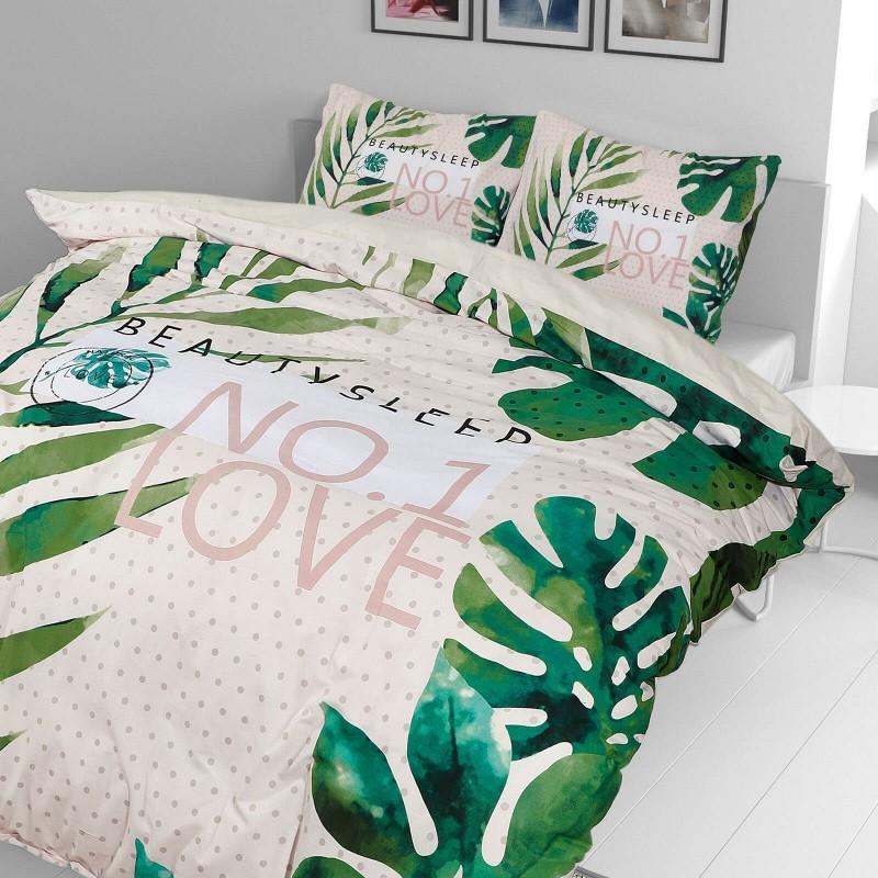 Vrijeme je za potpuno uživanje u modernim pamučnim posteljinama! Posteljina Beauty Sleep od renforce platna, mekane tkanine, jednostavne za održavanje. Neka vas oduševi moderan dizajn s uzorkom listova za udoban i ugodan san. Posteljina je periva na 40 °C.