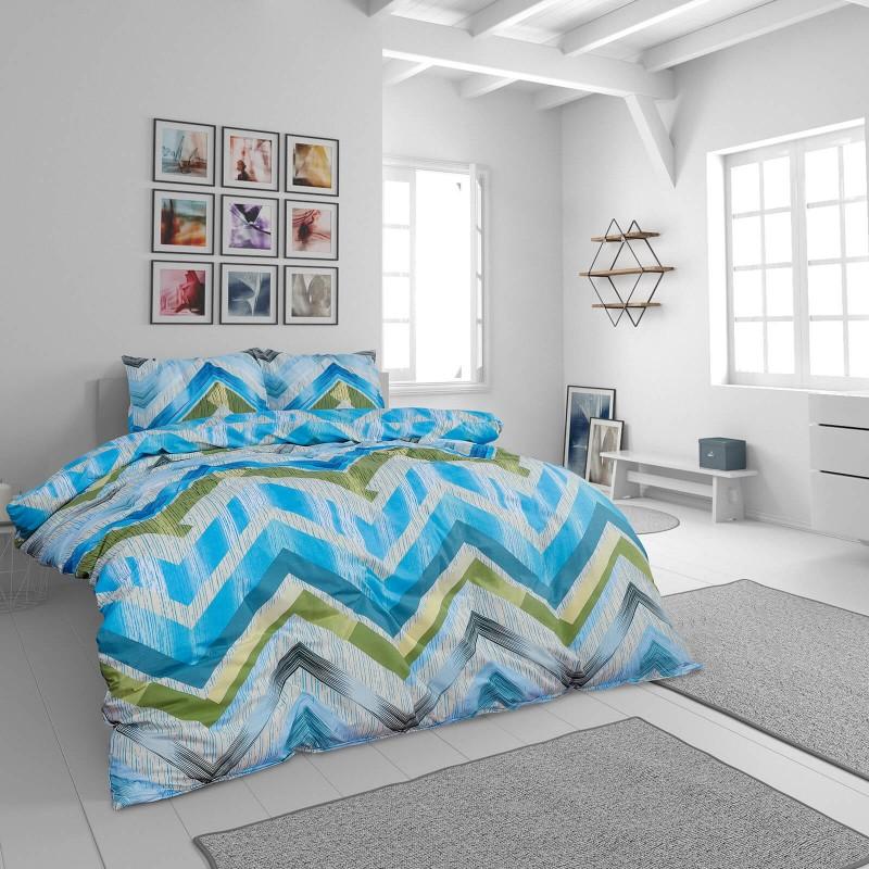 Vrijeme je za potpuno uživanje u modernim pamučnim posteljinama! Posteljina Ava od renforce platna, mekane tkanine, jednostavne za održavanje. Neka vas oduševi moderan dizajn s uzorkom crta za udoban i ugodan san. Posteljina je periva na 40 °C.
