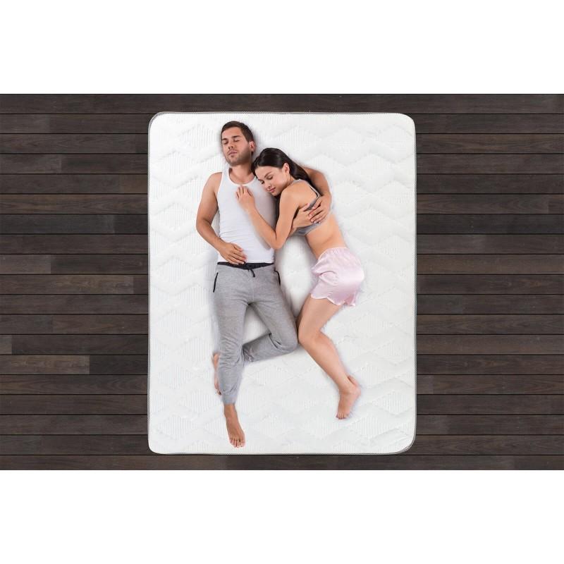 20 cm visoki madrac s oprugama Hitex City Wave 20 pruža podršku vašem tijelu i udobnost te osigurava da se ujutro probudite naspavani i odmorni. Sistem jedne opruge Single Spring, u kombinaciji s dodatnim slojem filca u jezgri te tri sloja Sensa Memory pjene i dodatnih 2 cm u oblozi osiguravaju pravilan položaj spavanja i opuštanje.