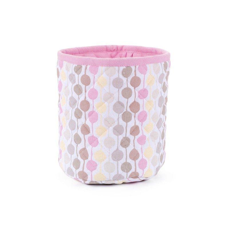Dotty korpa je izrađena od 100% pamuka i može se koristiti za hljeb i druge pekarske proizvode. Sa veselim tačkastim motivom. Dimenzije 21 x 27 cm. Roza boja.