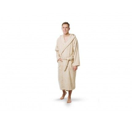 Muški kupaoni ogrtač sa kapuljačom Svilanit Relax – bež