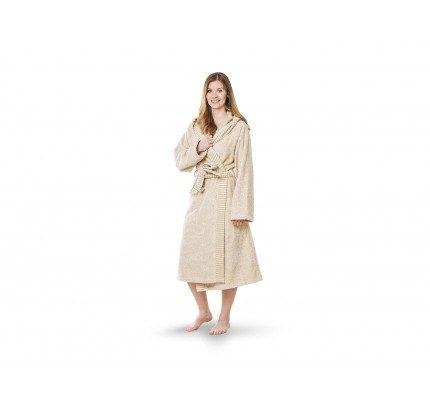 Ženski kupaoni ogrtač sa kapuljačom Svilanit Relax – bež