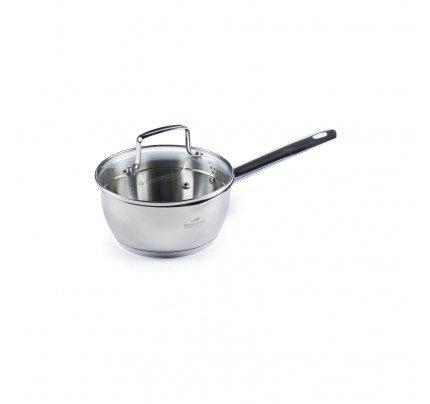 Čelična posuda za umake Rosmarino Pour&Cook sa staklenim poklopcem 1 l - 16 cm
