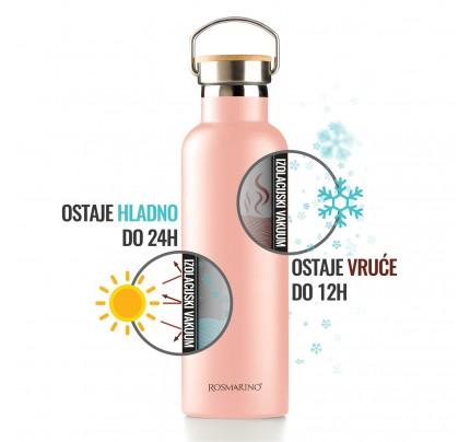 Vakumska termos boca Rosmarino – roza, 750 ml