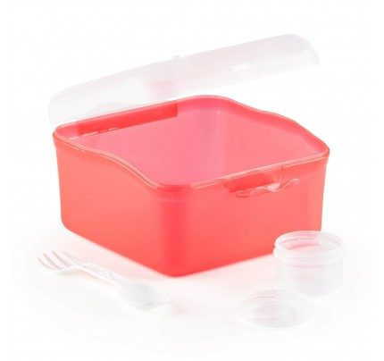 Prenosna posuda za salatu Rosmarino - crvena