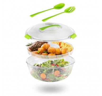 Prenosna posuda za salatu Rosmarino - okrugla