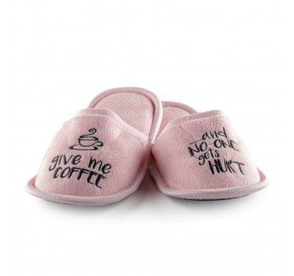 Kućne papuče sa mekanim đonom i natpisom Vitapur SoftTouch - roza