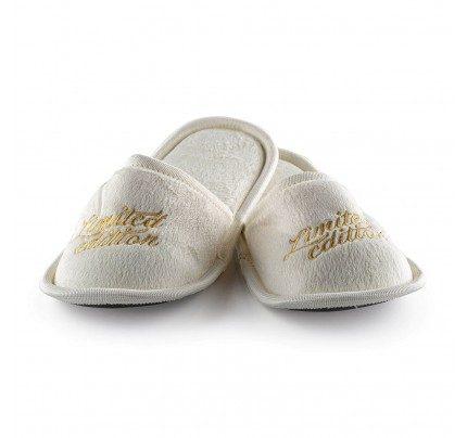 Kućne papuče sa mekanim đonom i natpisom Vitapur SoftTouch - bež
