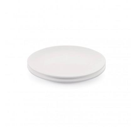 Set od dva desertna tanjira od porcelana Rosmarino Cucina Bianca - 21 cm