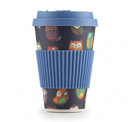 Šolja za kafu od bambusa Sova - 400 ml