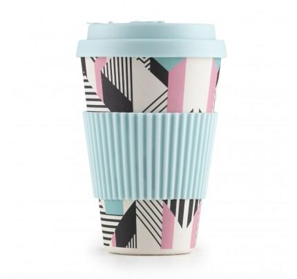Šolja za kafu od bambusa Linear - 400 ml