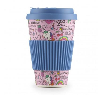 Šolja za kafu od bambusa Unicorn - 400 ml