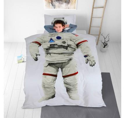 Dječja pamučna posteljina Svilanit Astronaut