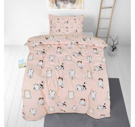Dječja pamučna posteljina Svilanit Pretty Cats
