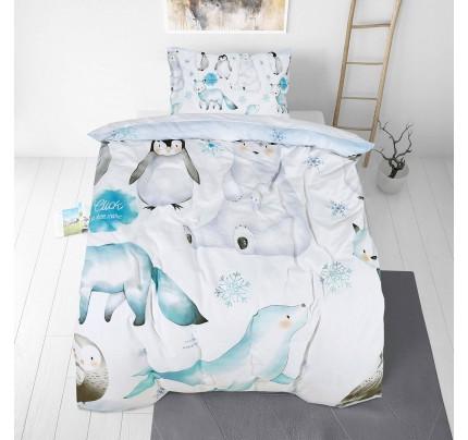 Dječja pamučna posteljina Svilanit Penguin