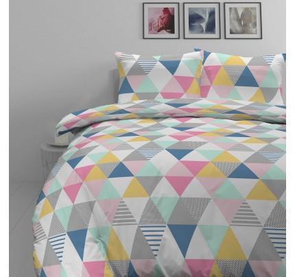 Pamučno-satenska posteljina Svilanit Triangle Dreams