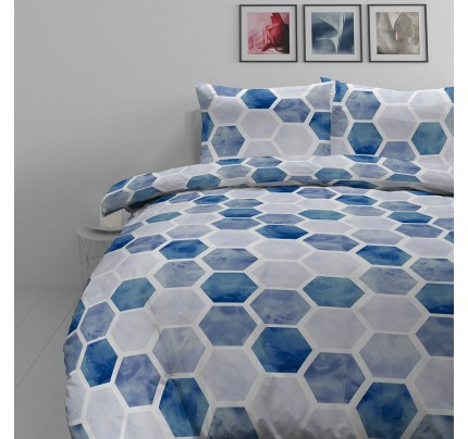 Pamučno-satenska posteljina Svilanit Hexagon Dreams