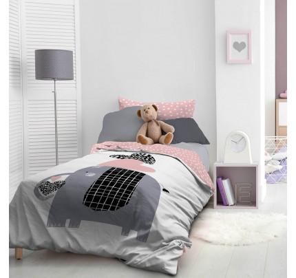 Dječja pamučna posteljina Svilanit Elephant's Heart