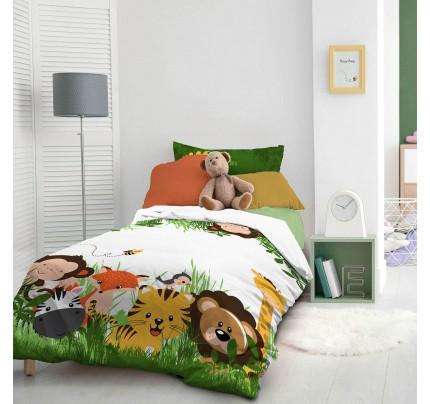 Dječja pamučna posteljina Svilanit Jungle Kids