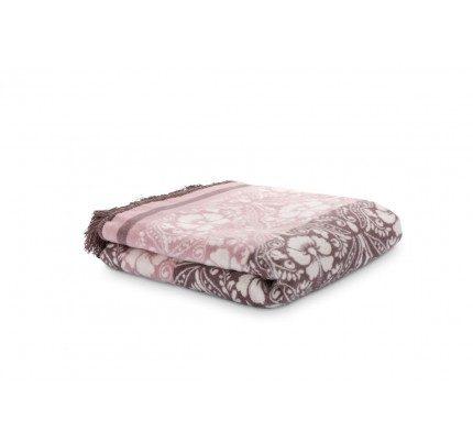 Dekorativna deka Svilanit Dora – bordo-smeđa
