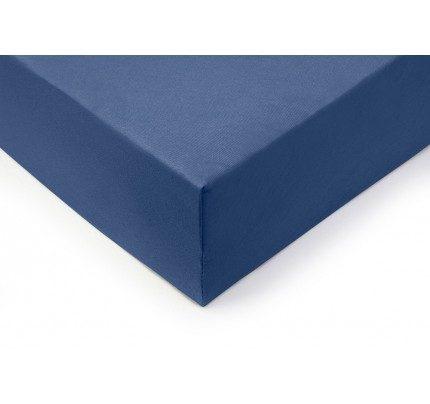 Pamučna plahta sa gumom Vitapur Lyon - plava