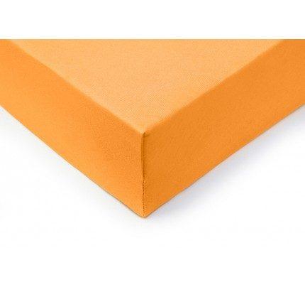 Pamučna plahta sa gumom Vitapur Lyon - narandžasta