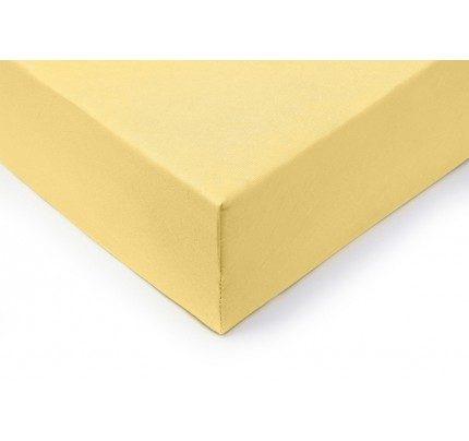 Pamučna plahta sa gumom Vitapur Lyon - žuta