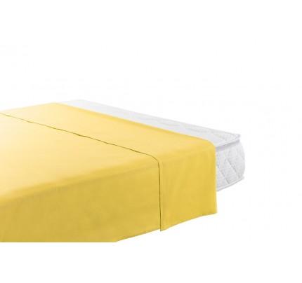 Klasična pamučna plahta Vitapur Family Selina - žuta