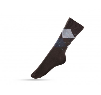 Čarape muške sokne Svilanit Marshal - karo braon