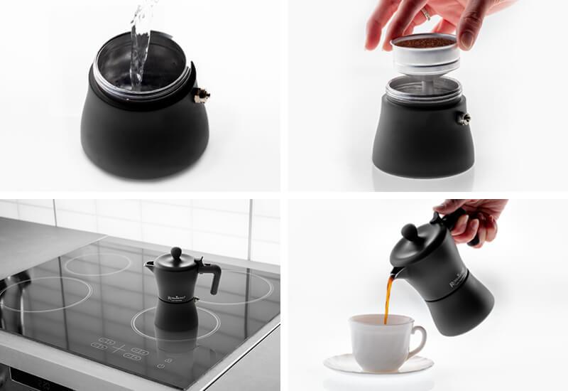 Priprema kafe u samo 4 koraka