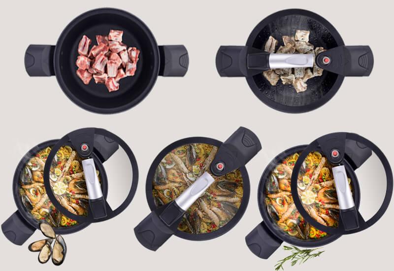 Svestran moderan lonac za razne namjene i kraće vrijeme kuhanja